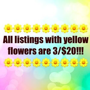 All listings with yellow flowers are 3/$20!!!